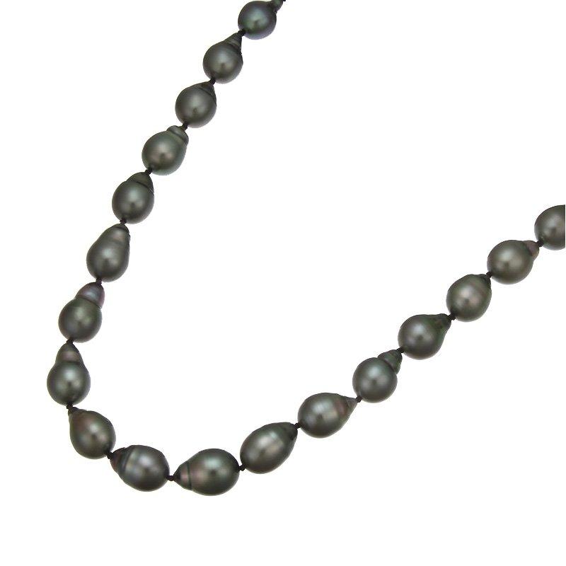 Devon Fashion Black Tahitian Baroque Pearl Necklace