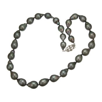 Black Tahitian Baroque Pearl Necklace