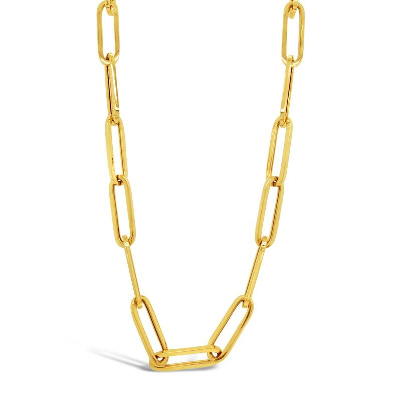 Rudolf Friedmann Yellow Gold Paperclip Necklace