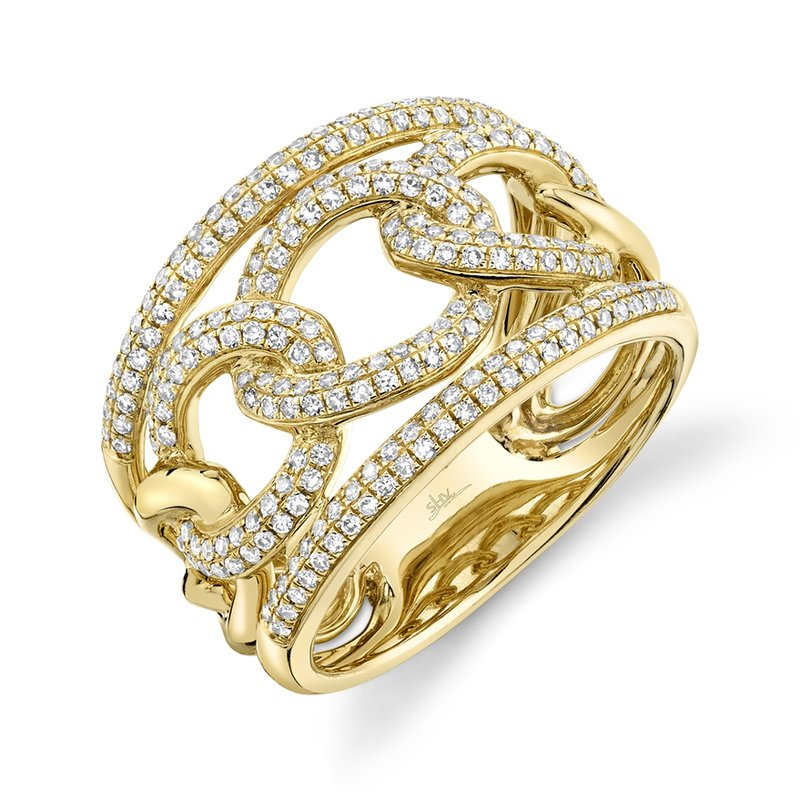 Shy Creation 14k Yellow Gold Link Band