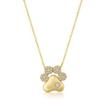14kt Honey Gold™ Paw Pendant