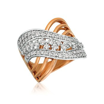 14k Strawberry and Vanilla Gold® Ring