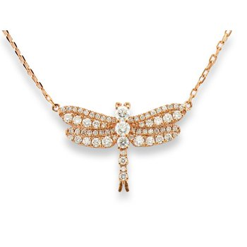 14kt Strawberry Gold® Dragonfly Necklace