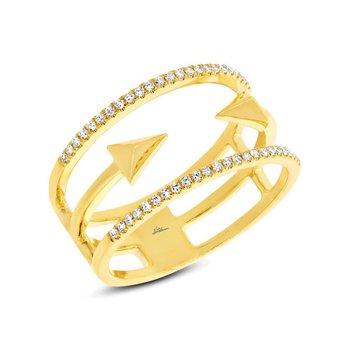 14k Yellow Gold Arrow Band