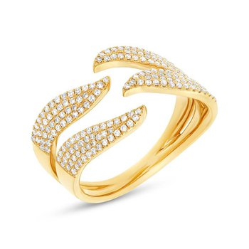 14k Yellow Gold Wave Band