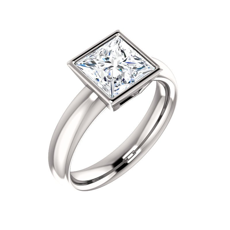 Gallery Designs Square Bezel Solitaire - Setting Only