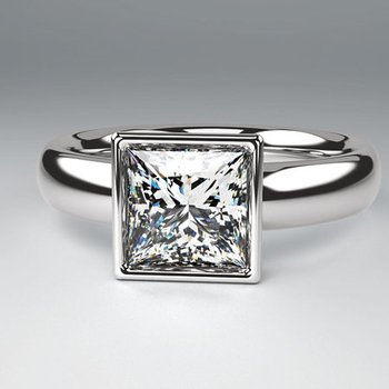 Square Bezel Solitaire - Setting Only