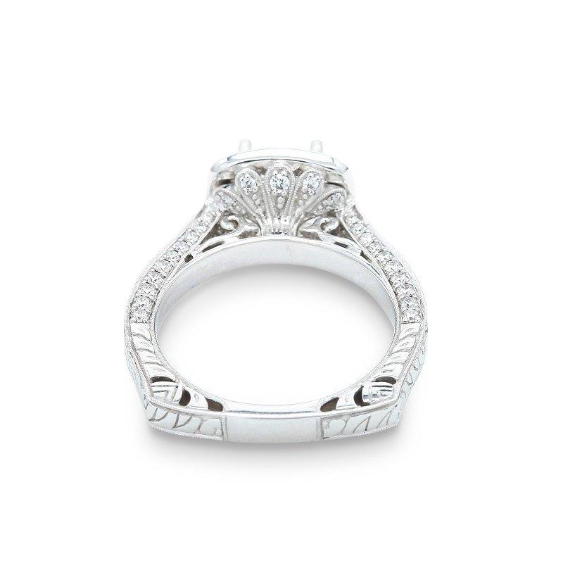 Isadora Square Halo Engagement Ring Setting