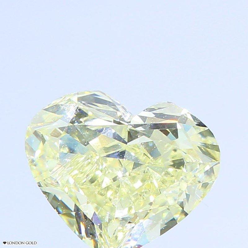 Colored Diamonds .82 Heart Fancy Light Yellow