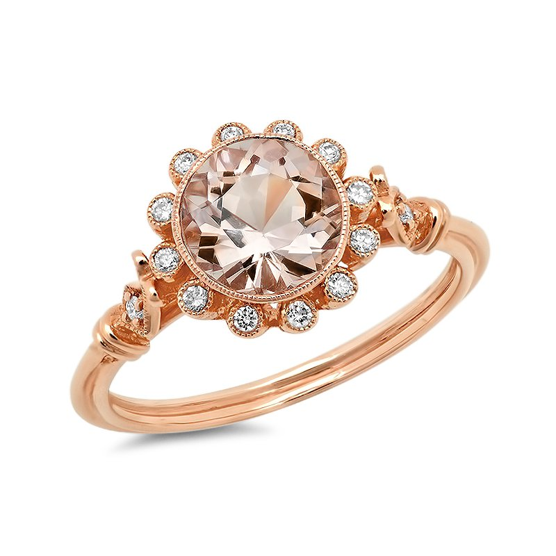 Beverley K Halo Morganite Ring