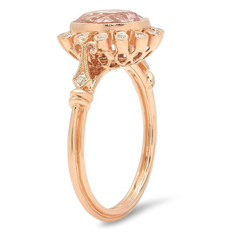 Beverley K Halo Morganite Ring