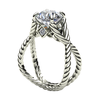 Open Rope Diamond Engagement Ring