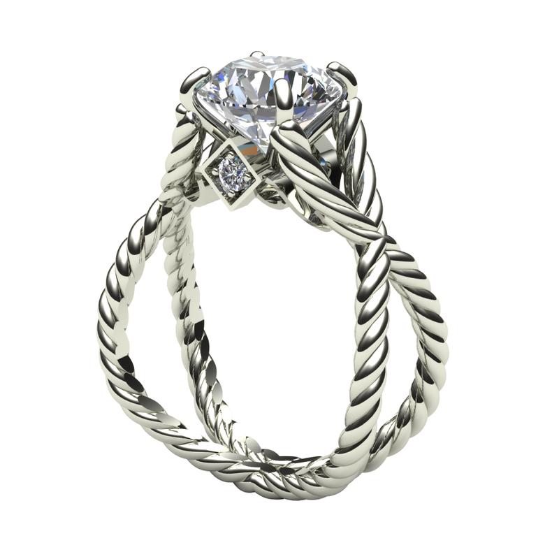 Daniels Designs Open Rope Diamond Engagement Ring