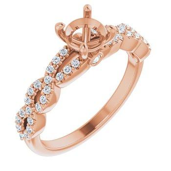 Rose Gold Engagement Ring Setting