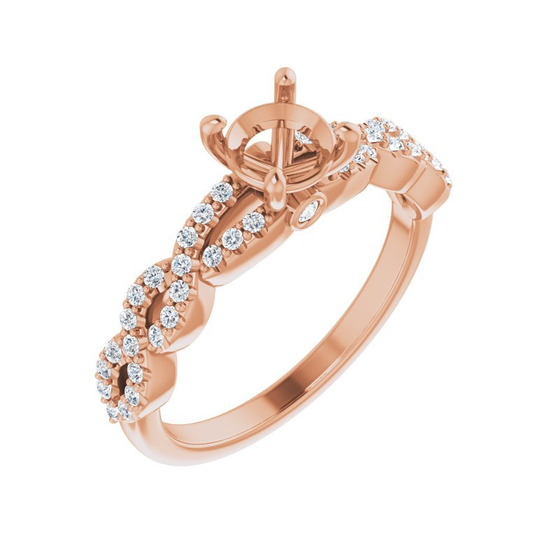 Gallery Designs Rose Gold Engagement Ring Setting