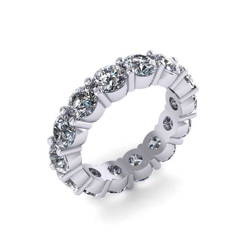 Lunaria Round Diamond Eternity Band