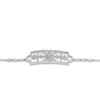 Art Deco Style Bracelet 14KW