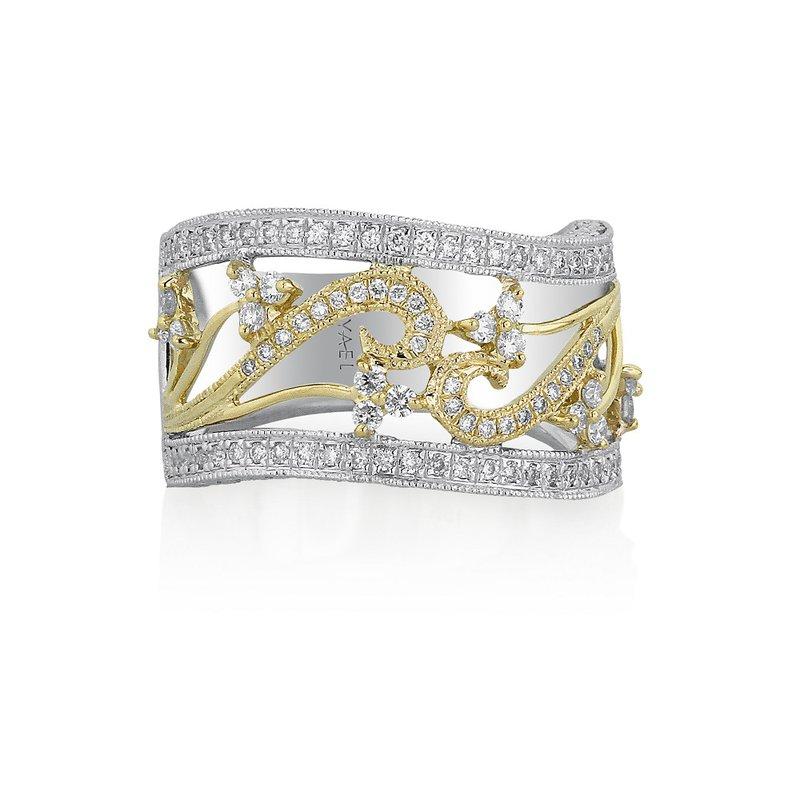 Yael Designs Vinca Ring 18K White & Yellow