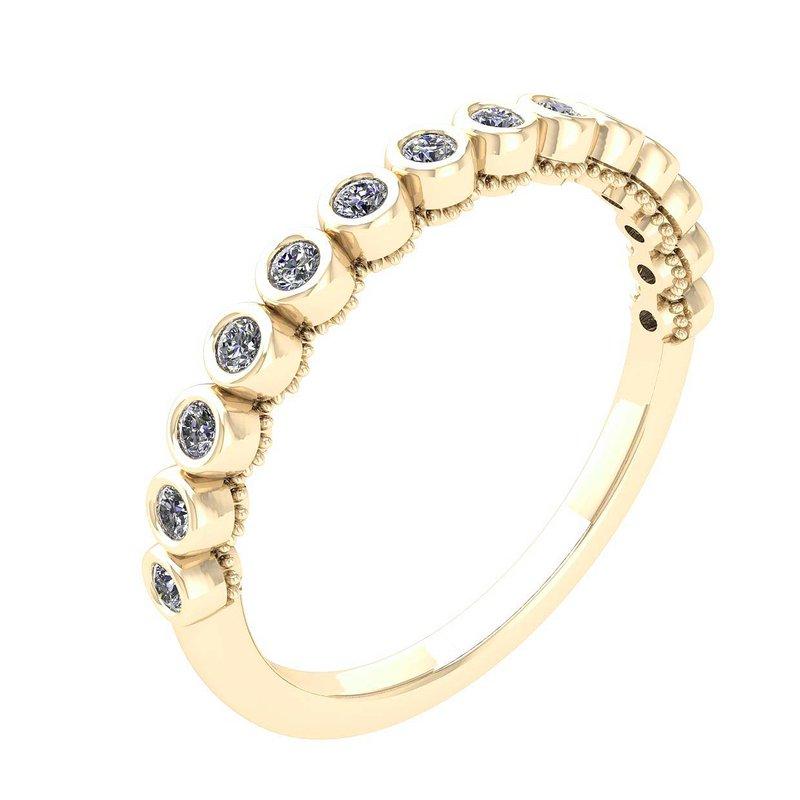 Isadora Bezel Set Diamond Band 18KY