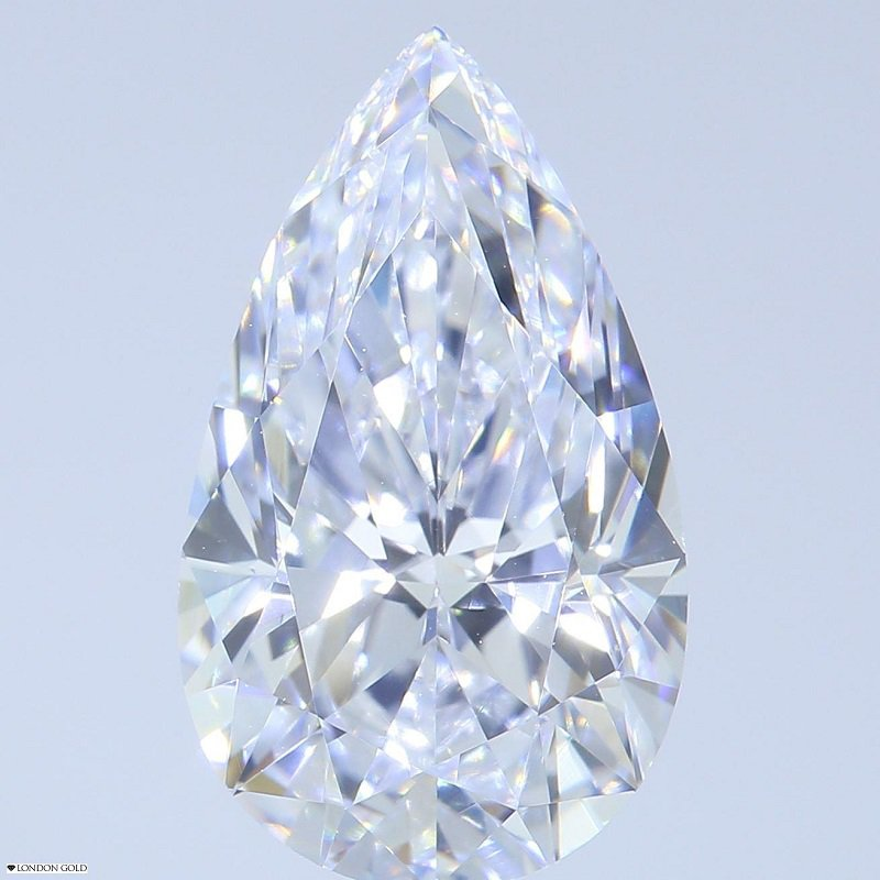 HPHT Diamonds Pear 2.47 D Internally Flawless