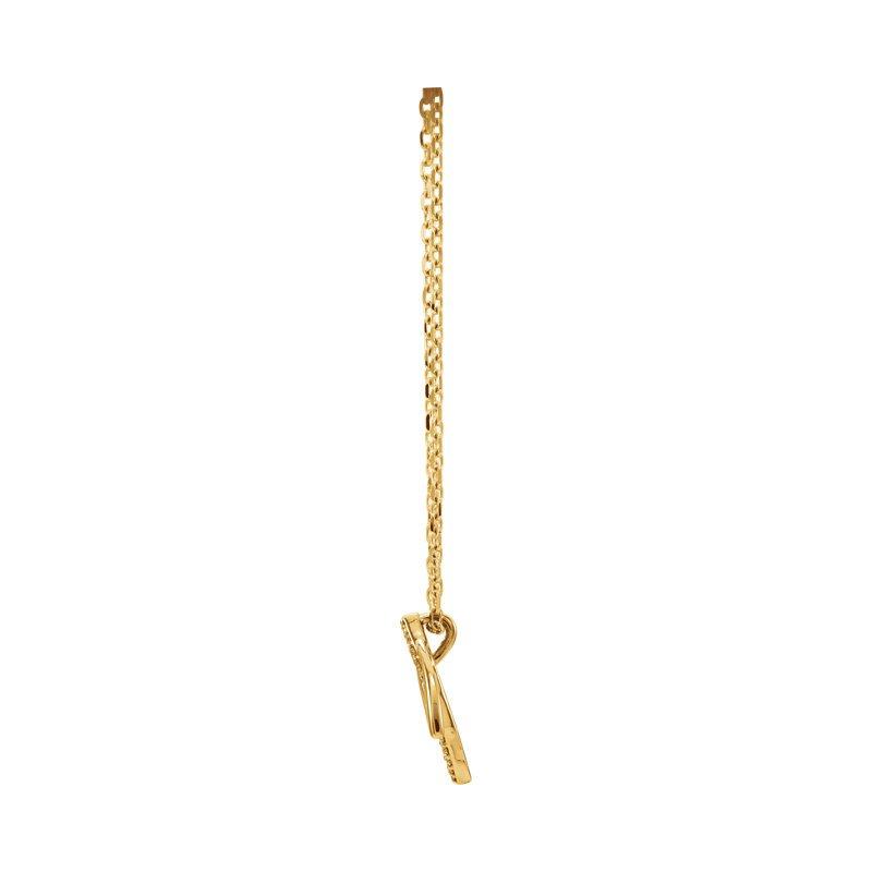 Gallery Designs Diamond Leaf Necklace 14KR