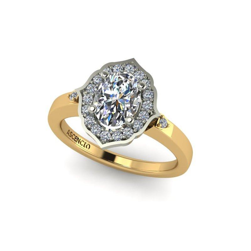 Ascencio Designs Ornate Halo Engagement Ring