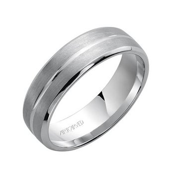 "14K White Gold ""Dynasty"" Comfort Fit Wedding Band"