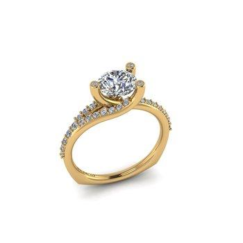 Modern Bypass Engagement Ring