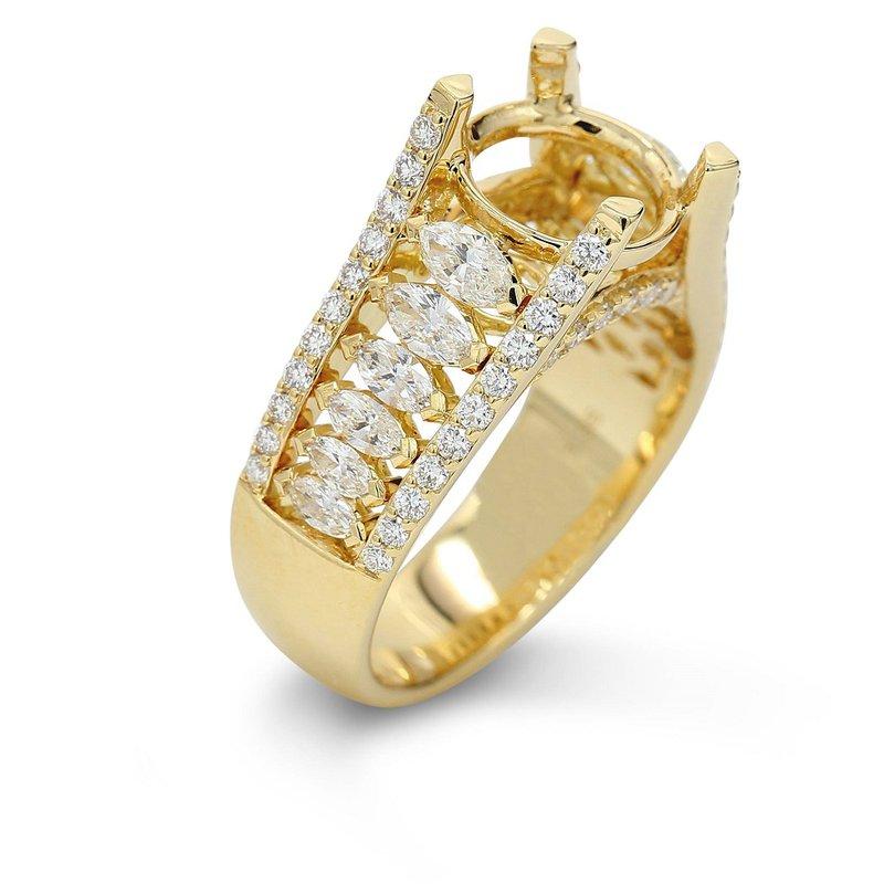 Isadora Marquise & Round Diamond Setting 18KY