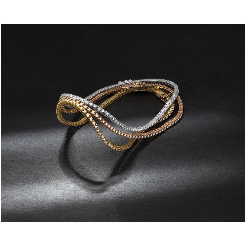 Facet Barcelona Rose Gold Stackable Tennis Bracelet
