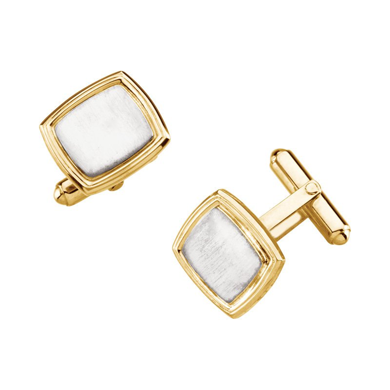 Gallery Designs 14K Two Tone Cuff Links