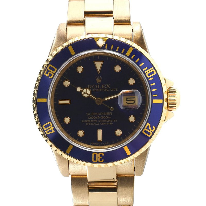 Rolex Pre-Owned Watches Submariner 18KY Blue Dial 16808