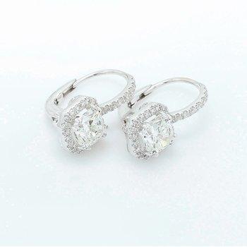 Dangle Halo Earrings 18KW
