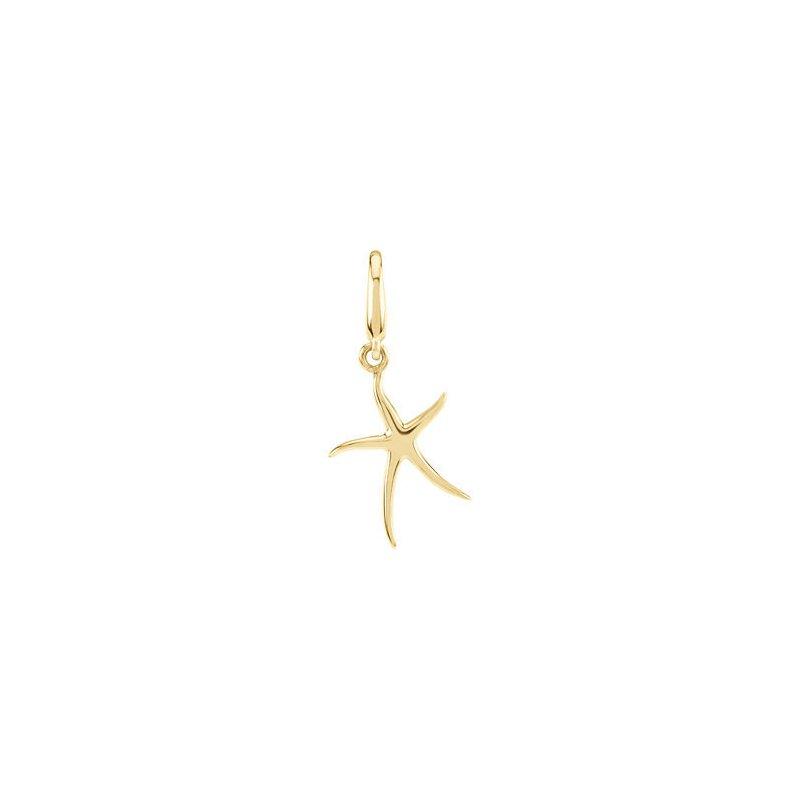 Gallery Designs Starfish Charm 14KY