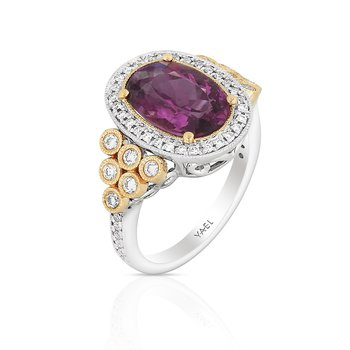 Rhododendron Rubellite Ring 18KW