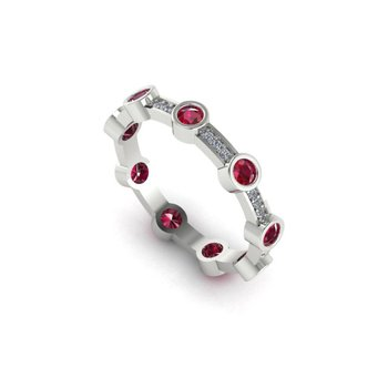 Stackable Ruby & Diamond Ring