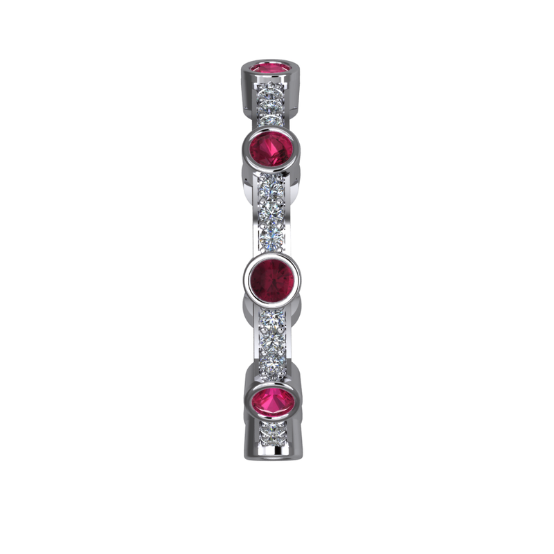 Daniels Designs Stackable Ruby & Diamond Ring