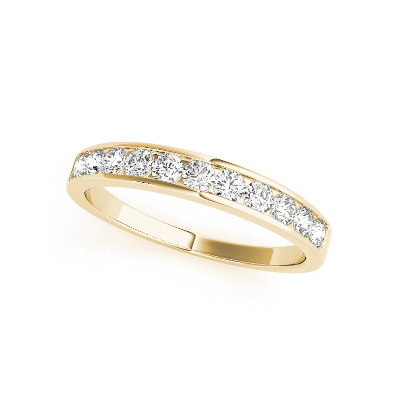 Gallery Designs Classic Diamond Channel Band