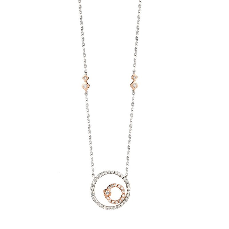 Isadora Circle Necklace 14K