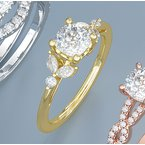 Gallery Designs Diamond Accent Engagement Ring - Setting Only