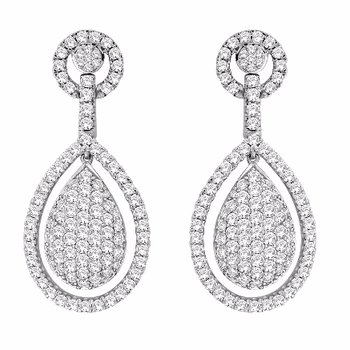 Diamond Tear Drop Dangles