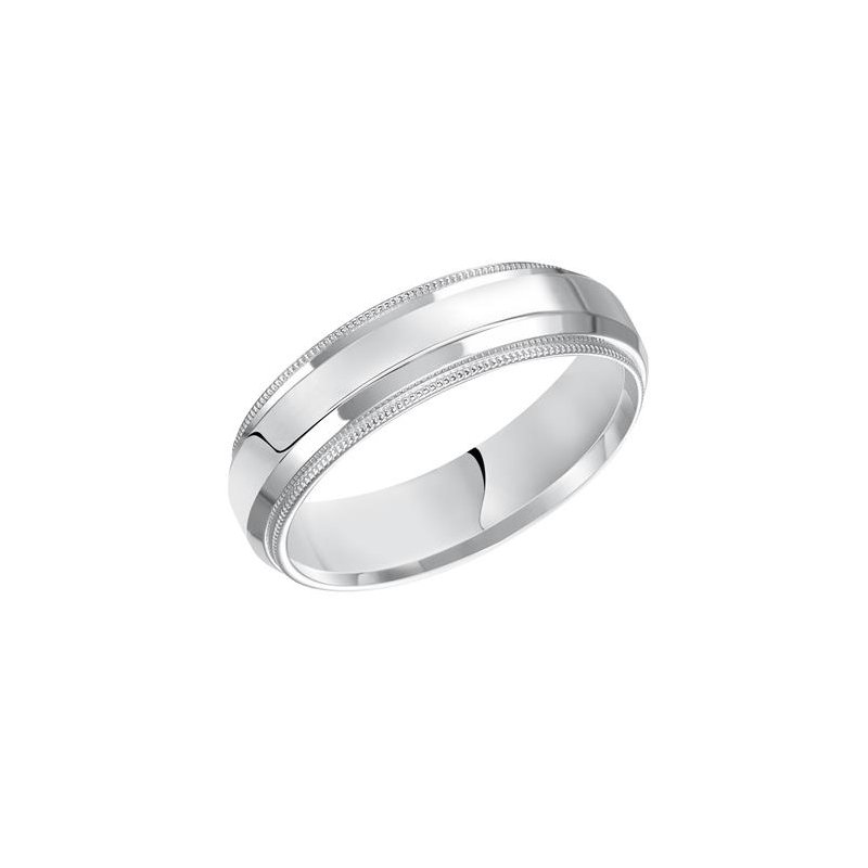 Frederick Goldman 14KW - White Gold Comfort Fit Wedding Band
