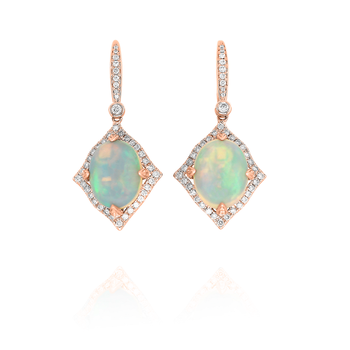 Opal & Diamond Dangles