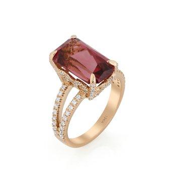 Pink Zircon Ring 18KR