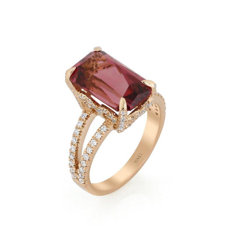 Yael Designs Pink Zircon Ring 18KR