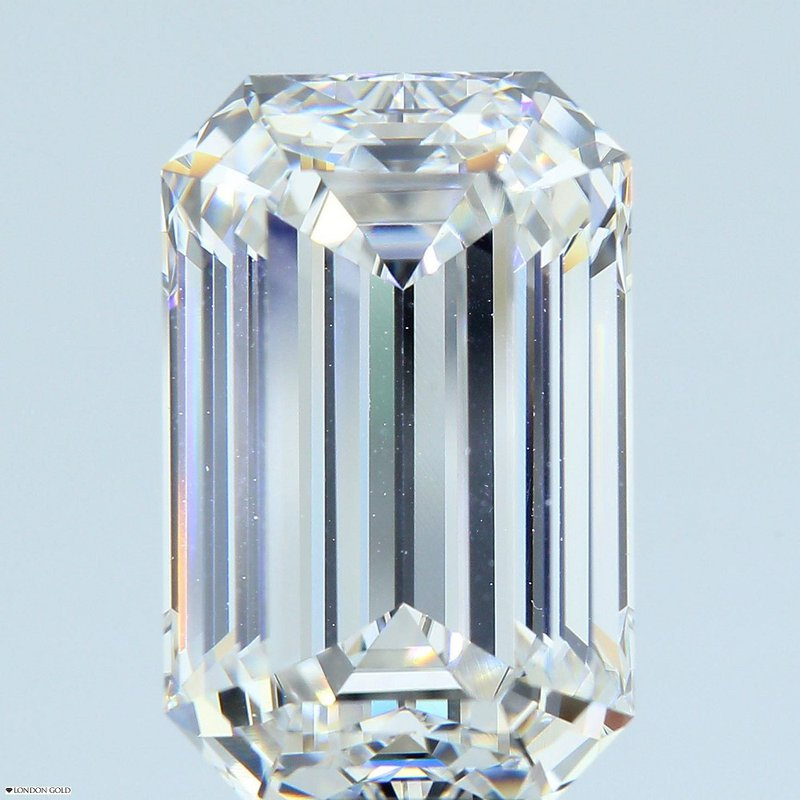 HPHT Diamonds Emerald Cut 5.86 G* VVS1 GIA