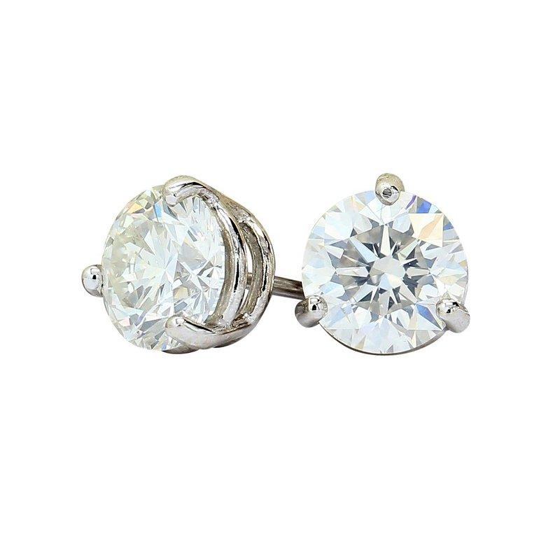 London Gold Designs 2.51 GIA Round Diamond Studs
