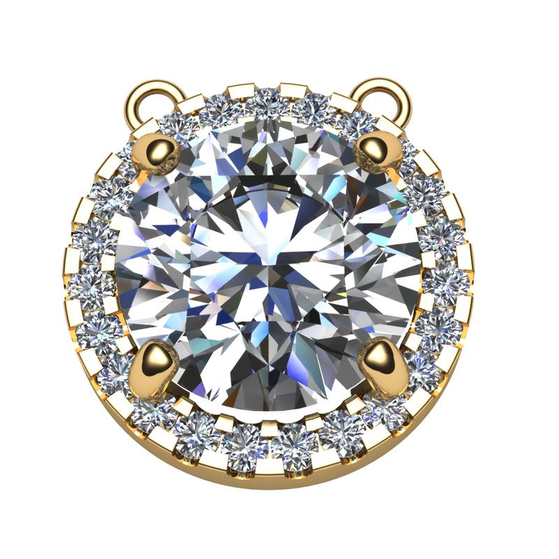 Daniels Designs Diamond Halo Pendant