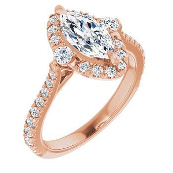 Marquise Halo Engagement Setting 14KR
