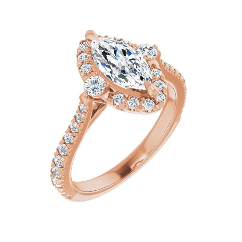 Gallery Designs Marquise Halo Engagement Setting 14KR